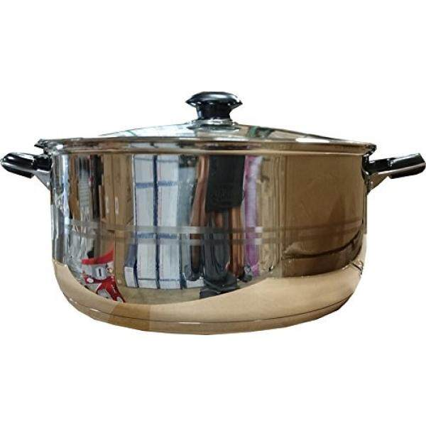 Lodhis Stainless Steel Low Pot With Lid-10qt By Ygmart.