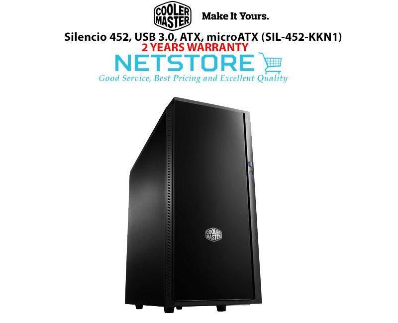 Cooler Master Silencio 452 Casing USB 3.0, ATX, microATX (SIL-452-KKN1) Chassis Malaysia