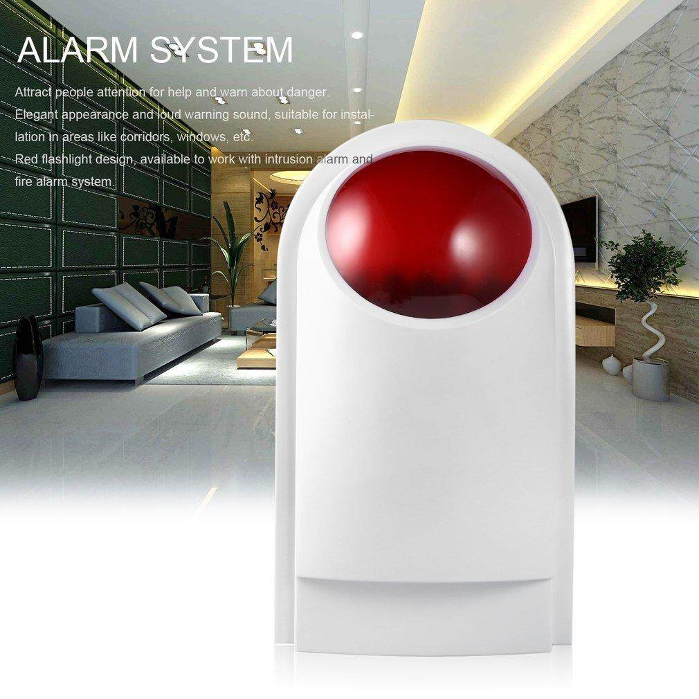 Allwin Wired Home Security Sound Light Strobe Siren Safety & Fire Alarm System CW32 White&Red