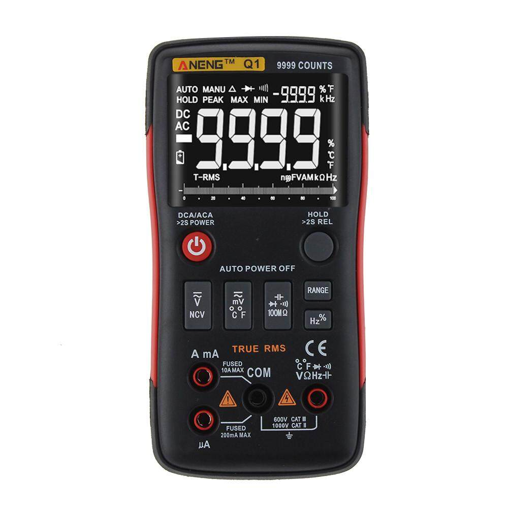 TOMATOLL Auto Digital Multimeters AC DC Voltage Counting Current Ohm Cap Meter Tester