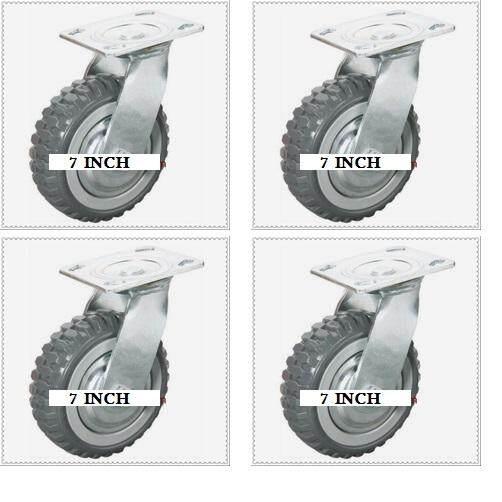 7 Inch Heavy Duty & Silent Best Trolley Tyre Tire By Enghongexport.