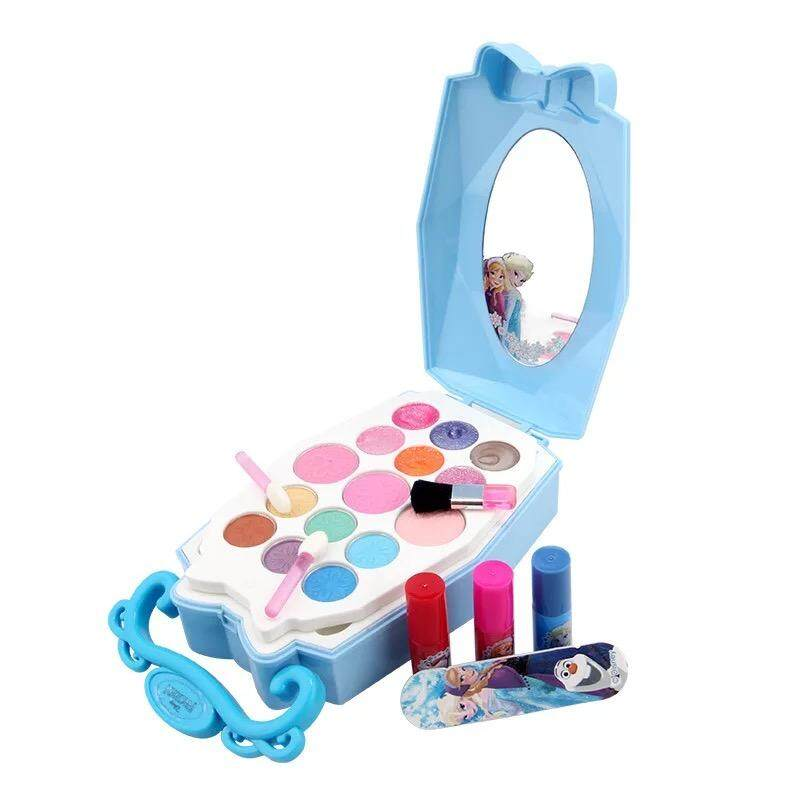 Girls MakeUp Cosmetics Set Nail Polish Set Cartoon Frozen Printed toys for  girls