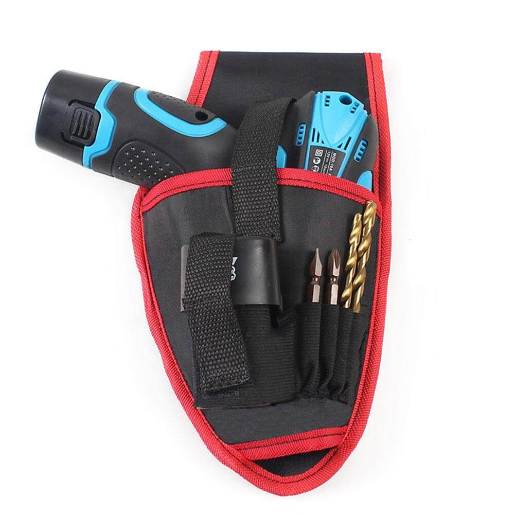 AD Hot Portable Drill Holder Pouch Drills Waist Tool Bag Nylon Electrician Belt Toolkit For 12V/18V Lithium Cordless Drill