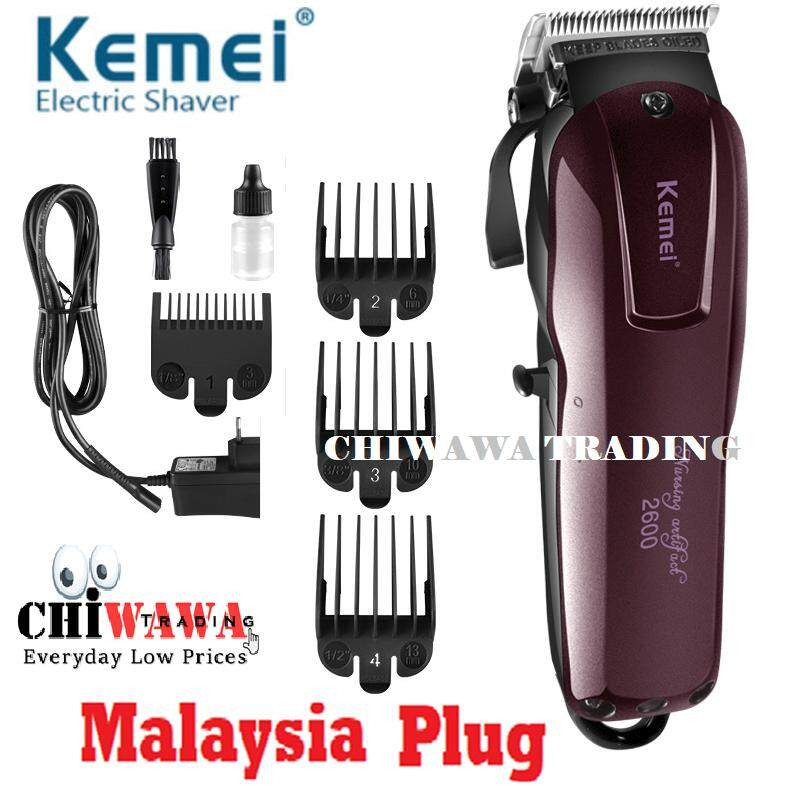 【Malaysia Plug】KEMEI Professional Rechargeable Electric Hair Trimmer Clipper Shaver Beard Razor Kit Cordless