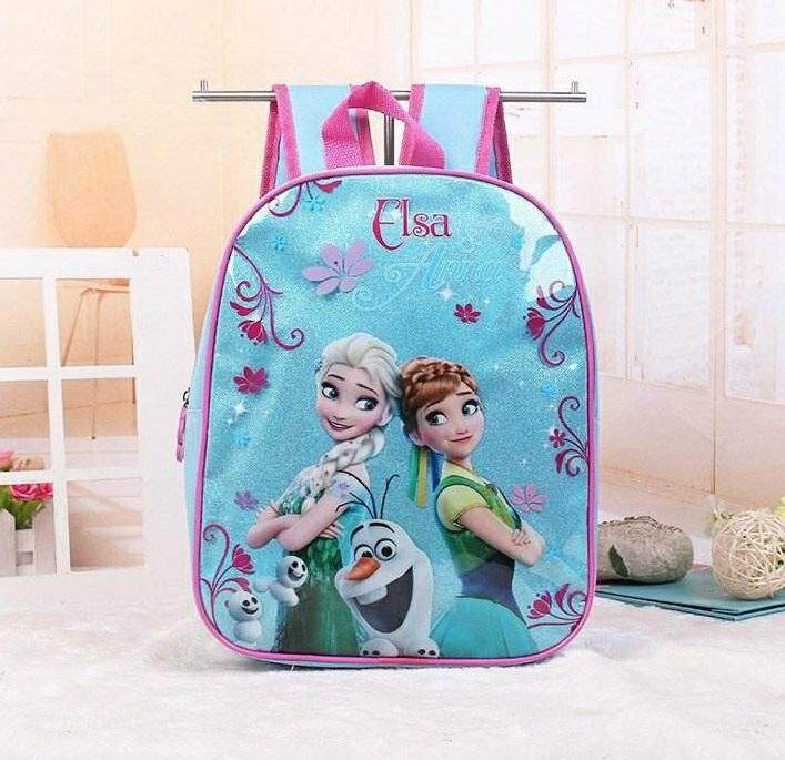 Kids School Bag /cartoon Bag/backpack (frozen Blue) By Mom & Baby Shop.