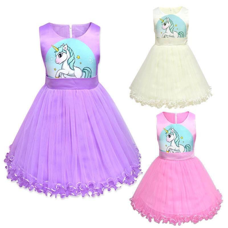 9ae89c0fc611c Girls Princess Dress Kids Unicorn Dress for Girl Party Dress