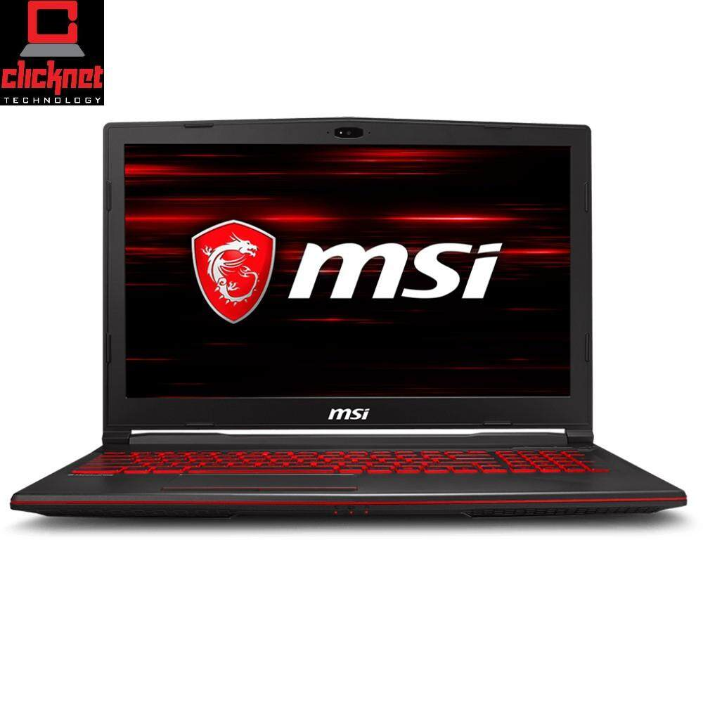 MSI GL63 8RC-412 15.6 FHD Gaming Laptop (I5-8300H, 4GB, 1TB, GTX1050 4GB, W10) Black Malaysia