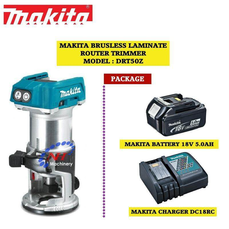 Makita DRT50Z Brusless Laminate Router Trimmer 18V PACKAGE B/Charger(DC18RC/5.0AH)