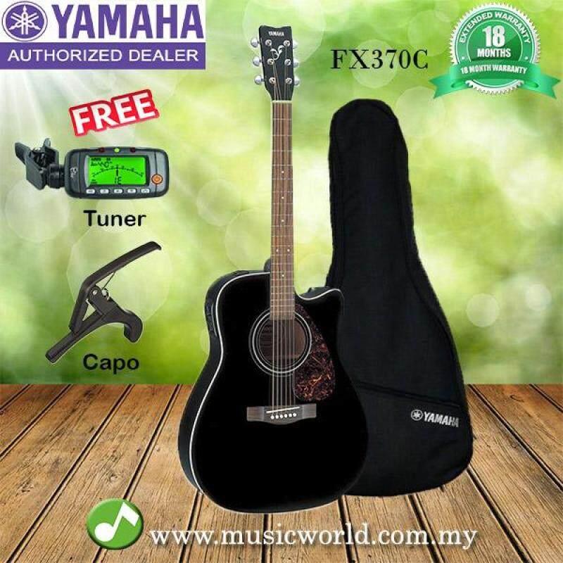 Yamaha FX370C Black Acoustic Guitar with Pickup (FX-370C FX 370C) Malaysia