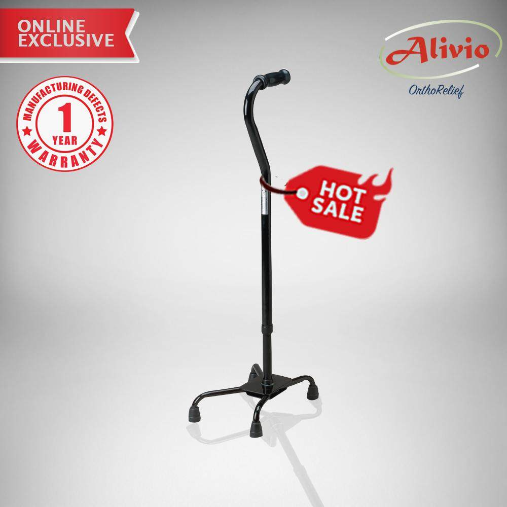 Alivio Quad Cane Wide Base By Safe & Well.