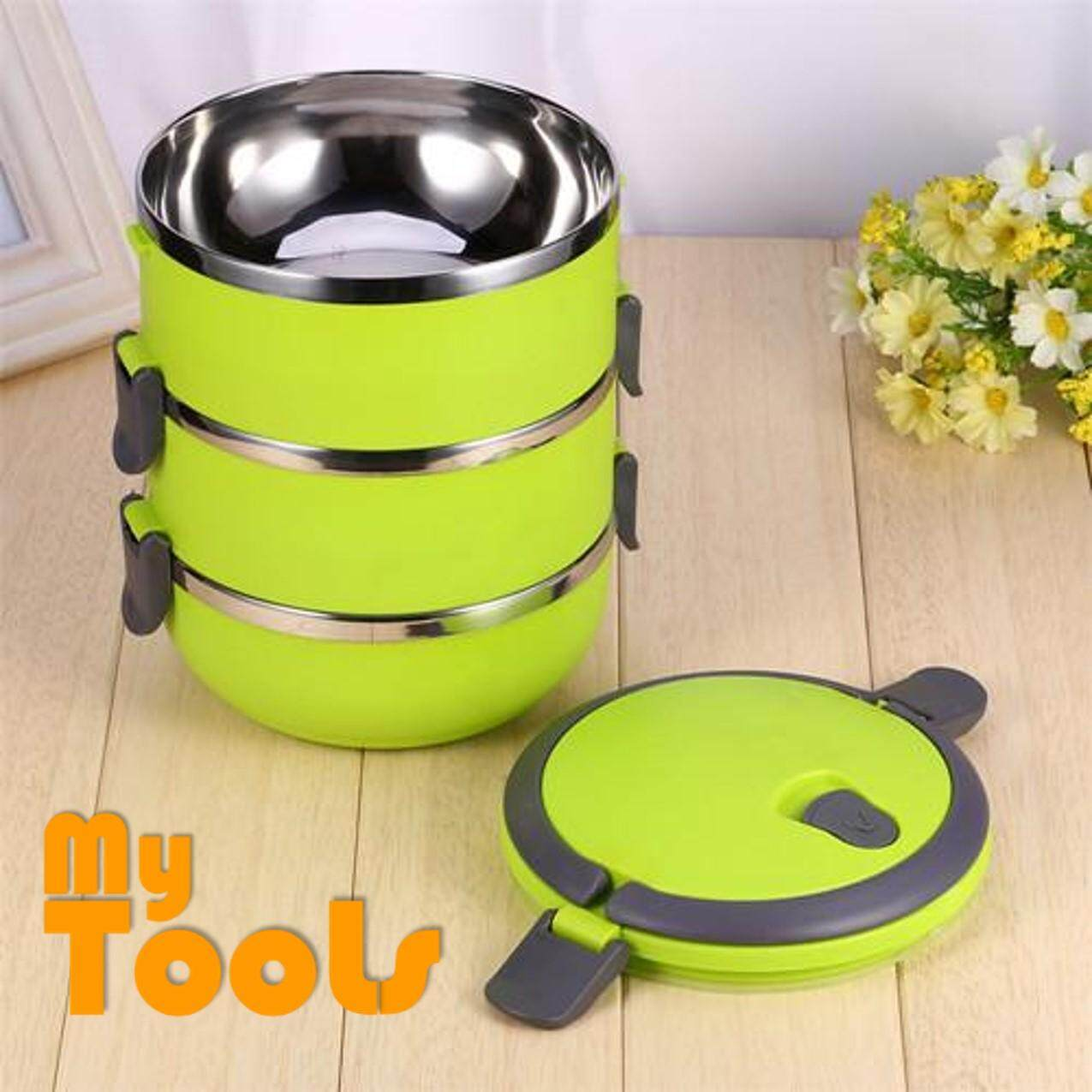 07180eb10 Mytools 3 Tiers Double Layer Stainless Steel Lunch Box With Sealing Valve
