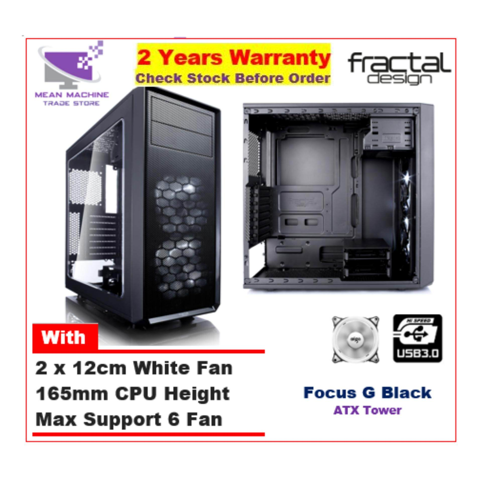 #Fractal Design Focus Mini G Black MATX Chassis (2 X White LED Included) # Malaysia