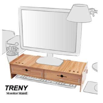 TRENY(Thick 5mm) Computer LCD Monitor Riser With Keyboard Accessories Storage D5088T-C