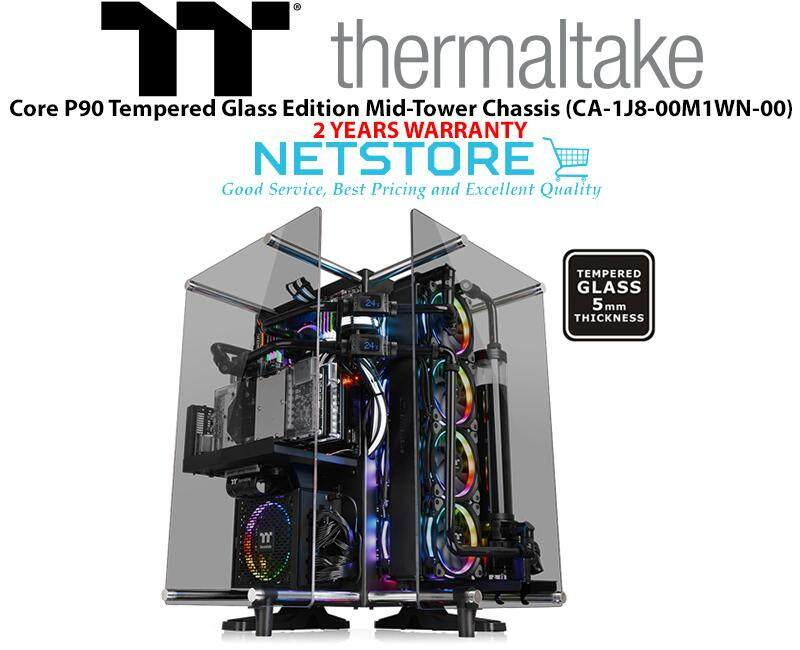 Thermaltake Core P90 TG Tempered Glass Edition Mid-Tower Chassis CA-1J8-00M1WN-00 Malaysia