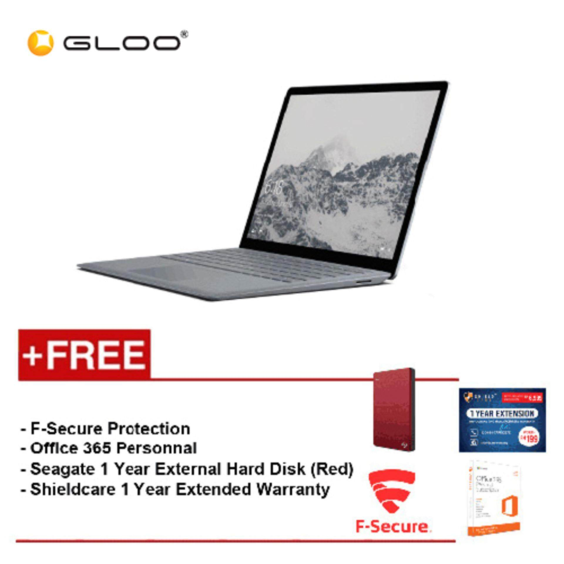 Surface Laptop Core i5/8GB RAM - 256GB + Shield Care 1Year Extended Warranty + F-Secure End Point Protection + Office 365 Personal + Seagate 1TB Hard Disk Drive (Red) Malaysia