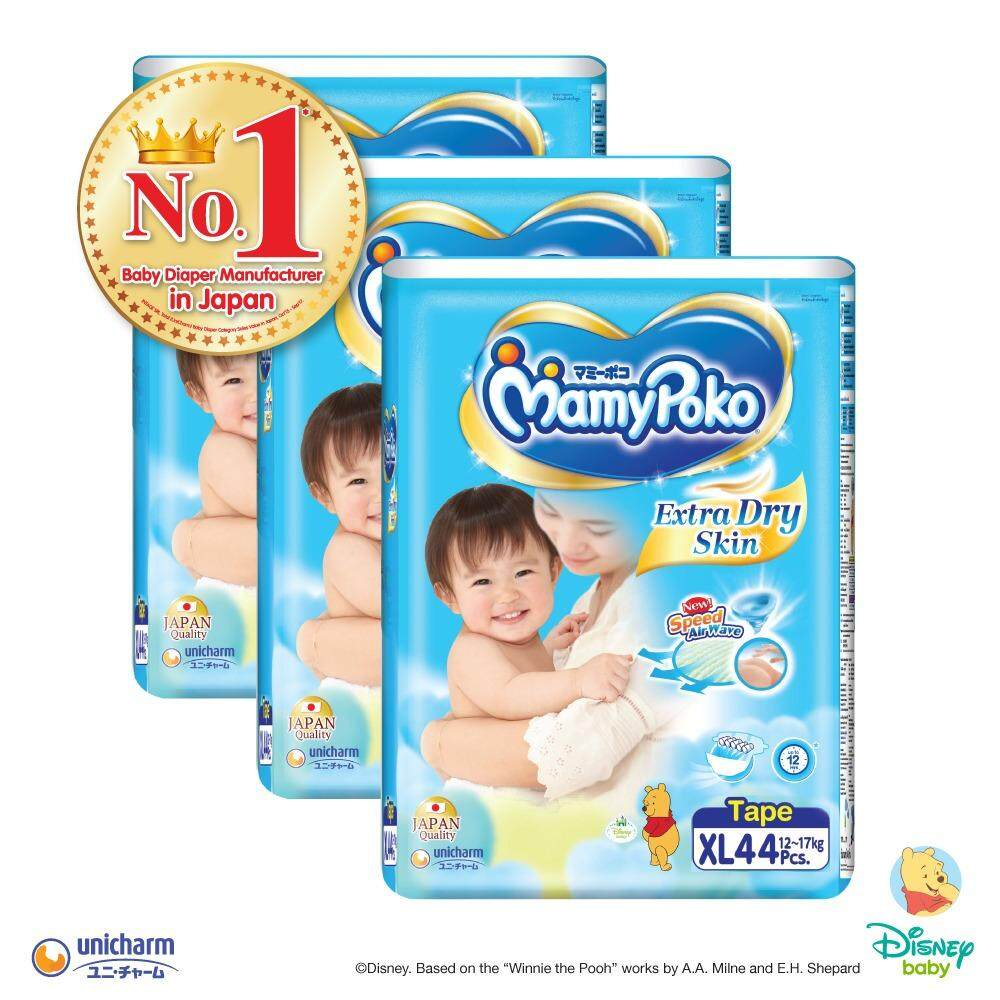 MamyPoko Extra Dry Skin Tape XL44 (3packs)