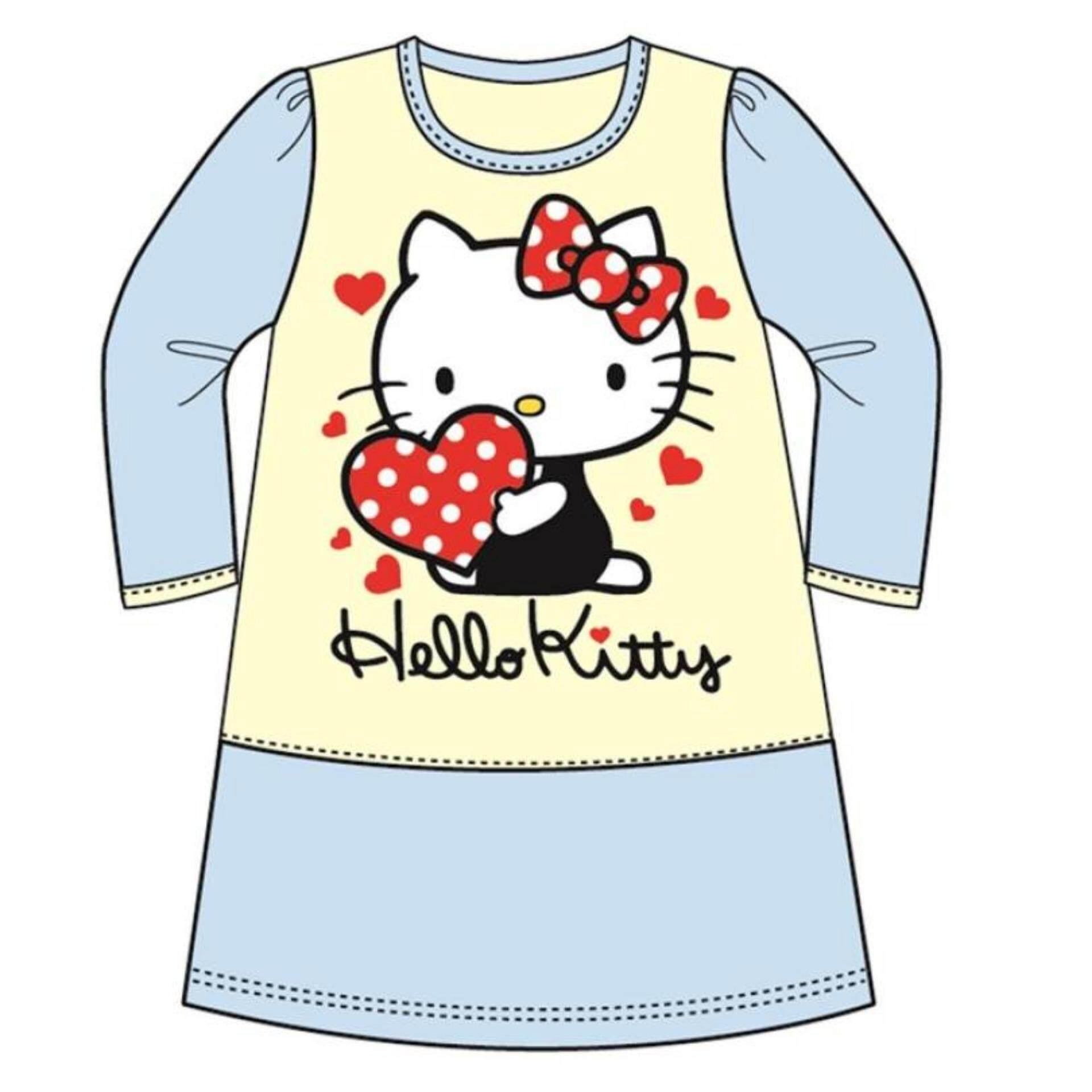 ea2168e911621 Sanrio Hello Kitty Casual Dress 100% Cotton 4yrs to 12yrs - Blue Colour
