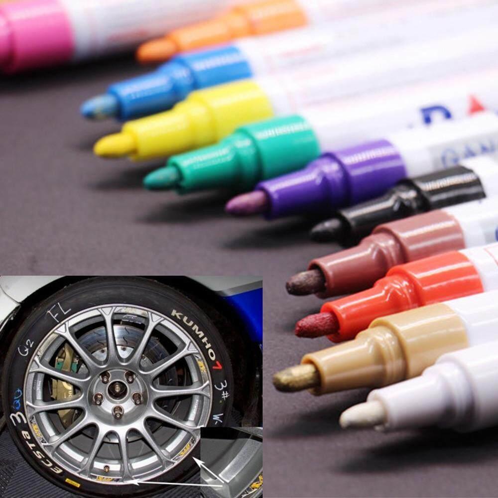 12pc Kids Art Menu Board Permanent Waterproof Car Tyre Metal Paint Marking Pen By Questre.