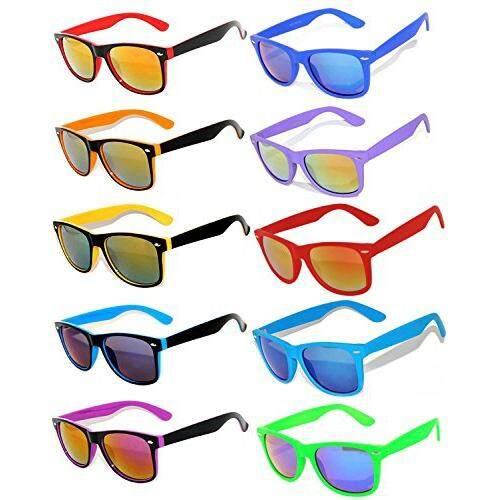 442ef627984 OWL Owl Retro Vintage Sunglasses Colorful Mirror Lens Matte Frame 10 Pairs