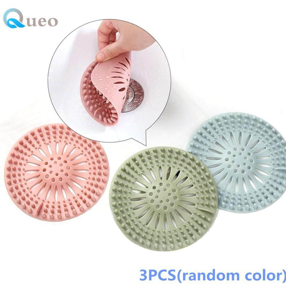Queo 3 Pcs Anti-Clogging Floor Drain Sink Strainer Filter Water Stopper Hair Catcher Bathtub Plug Bathroom Kitchen Basin Stopper By Queo.