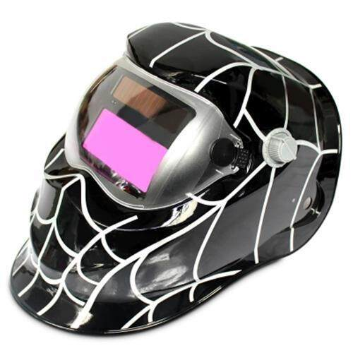 COBWEB DESIGN AUTOMATIC VARIABLE LIGHT ELECTRIC WELDING PROTECTIVE MASK (BLACK)