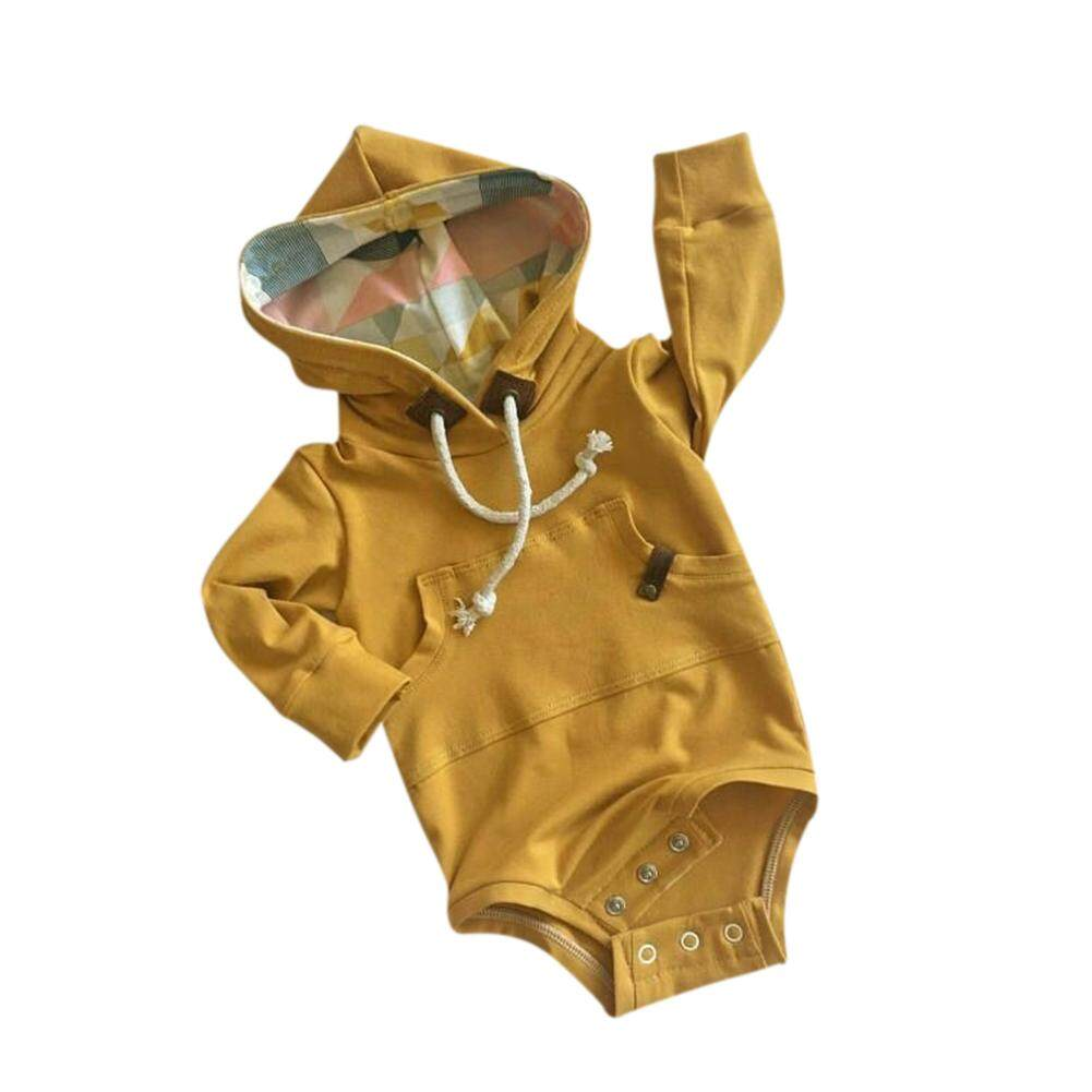 Xiziy Toddler Newborn Baby Boys Girls Long Sleeve Hooded Romper Sweater Bodysuit Tops By Xiziy.