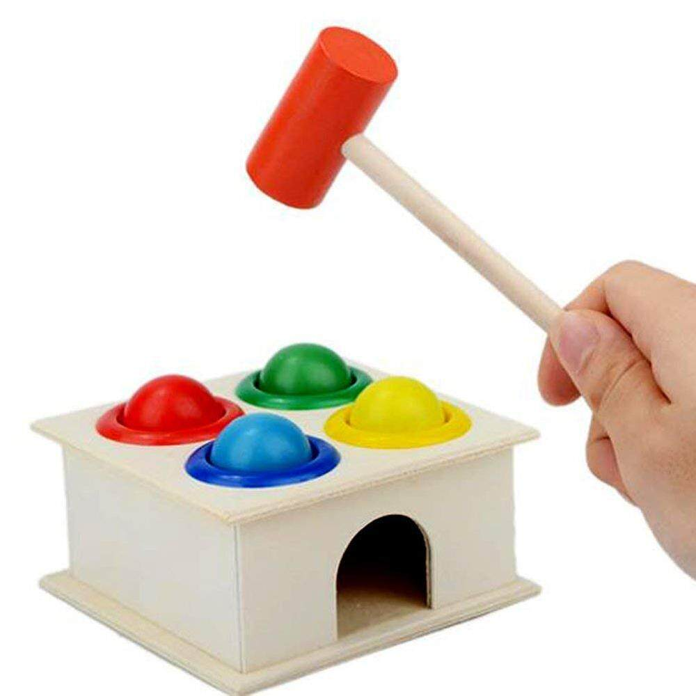 Kerui Baby Colorful Wood Hammering Ball With Box Children Early Learning Educational Toys By Kerui.