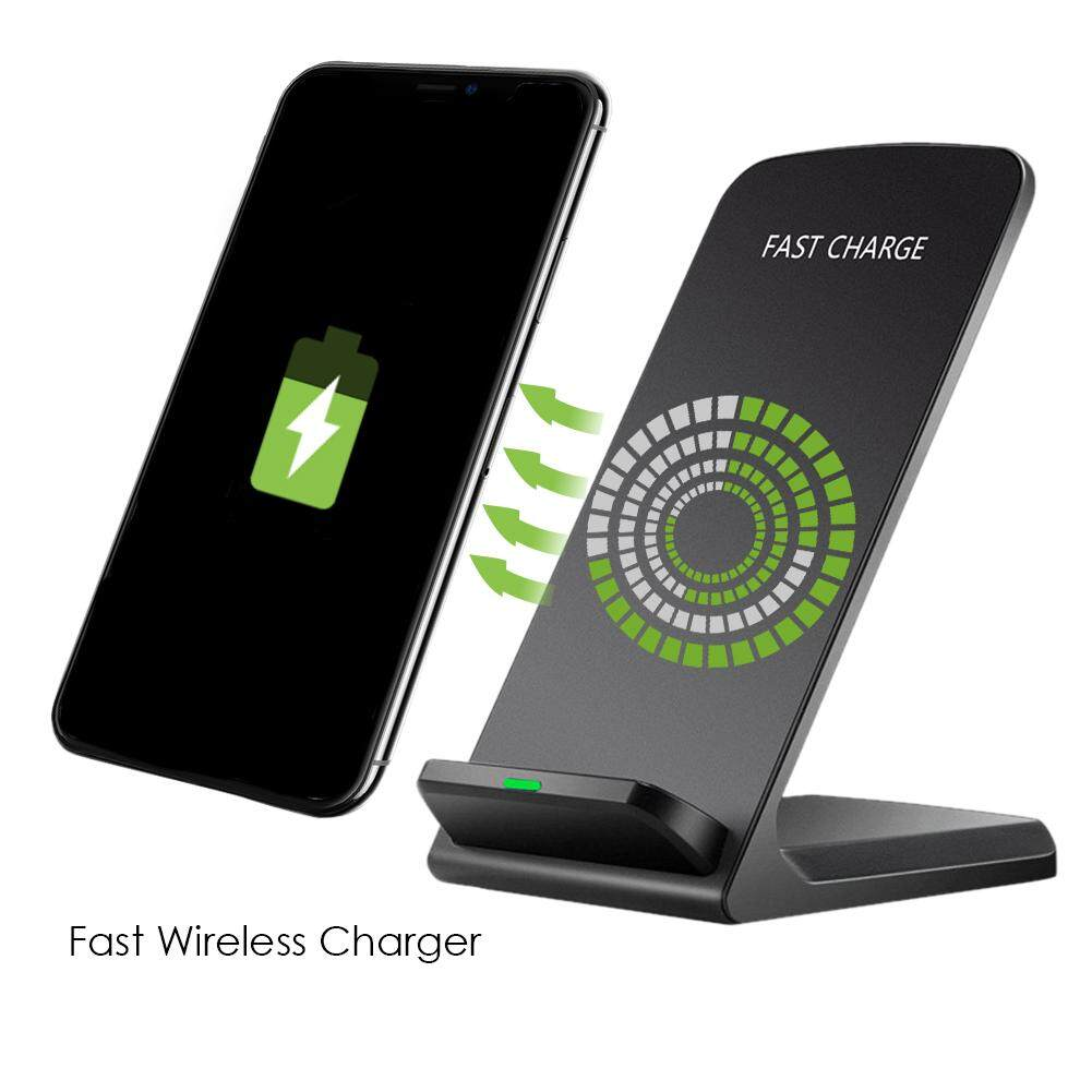 Accessories & Parts 10w Portable Vertical Double Coil Wireless Charger With Led Indicator Fast Charge For Qi Standard Smart Mobile Phone Attractive Fashion