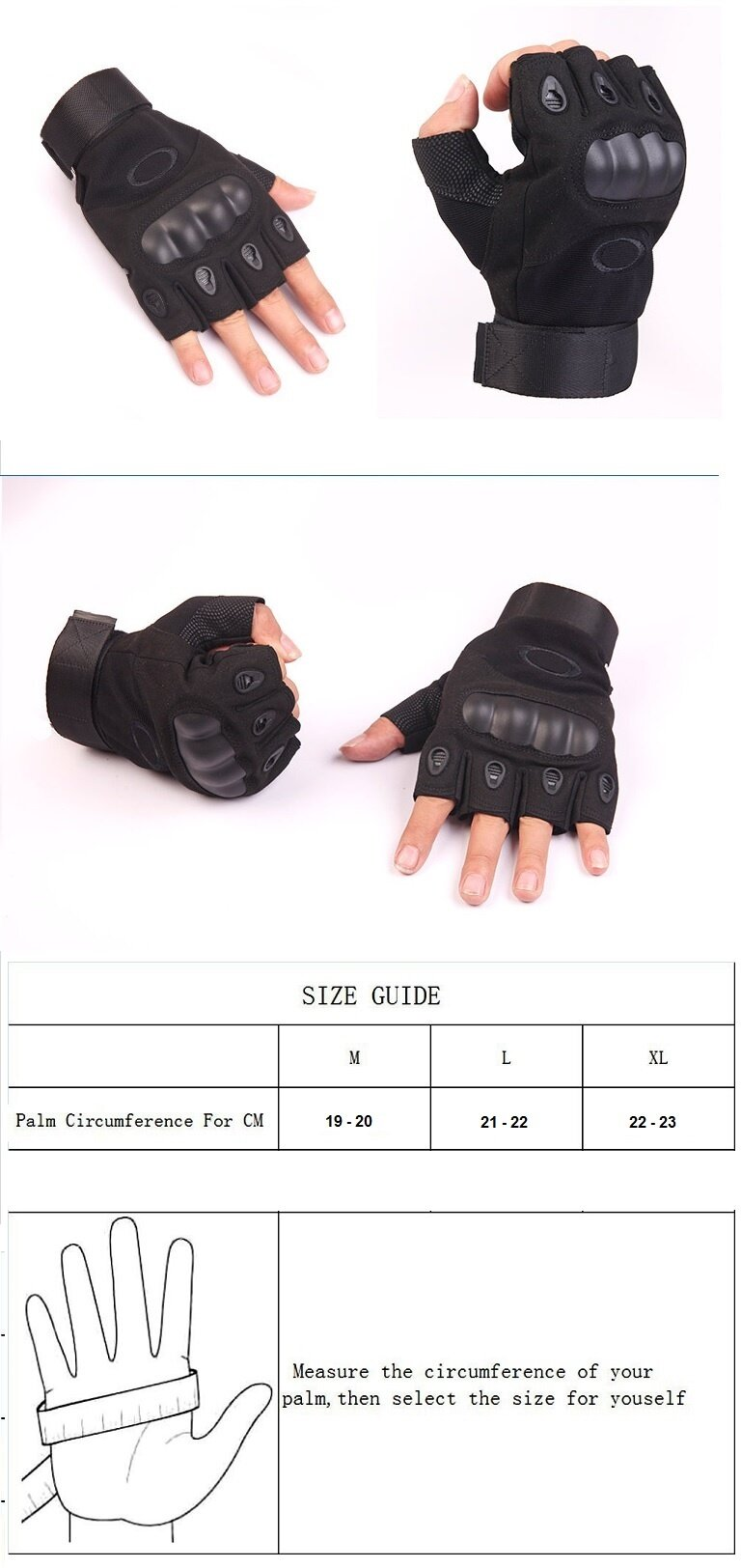 EcoSport Tactical Gloves, Half Finger Military Gloves for Fitness Gym  Workout,bMotor Driving, Outdoor, Camping, Hunting [Florasun]