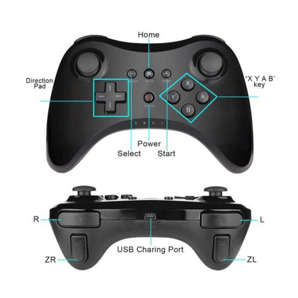 New Beau Wireless Controller Gamepad Joystick Remote Suitable for Nintendo Wii U Pro bandingkan - Hanya RM39