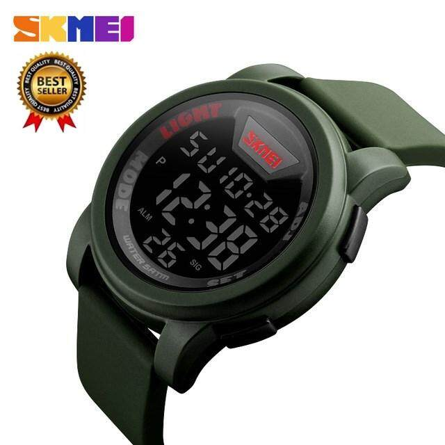 New popular sports brand SKMEI watch mens military sports watch fashion waterproof LED digital watch mens sports clock digital watch Malaysia