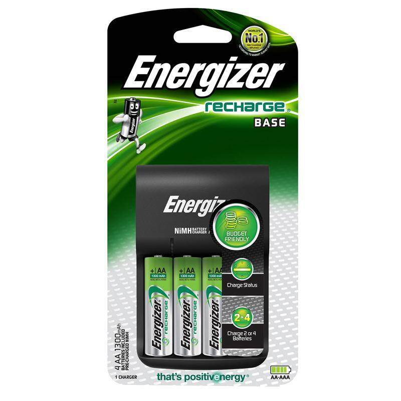 Energizer BASE CHARGER with 4pcs AA 1300mAh Batteries - CHVC4 Malaysia