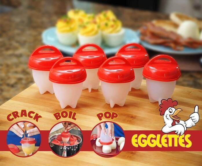 Hot Diy Egglettes Egg Cooker Hard Boiled Eggs Without The Shell 6 Egg Cups By Gadgetkecik.