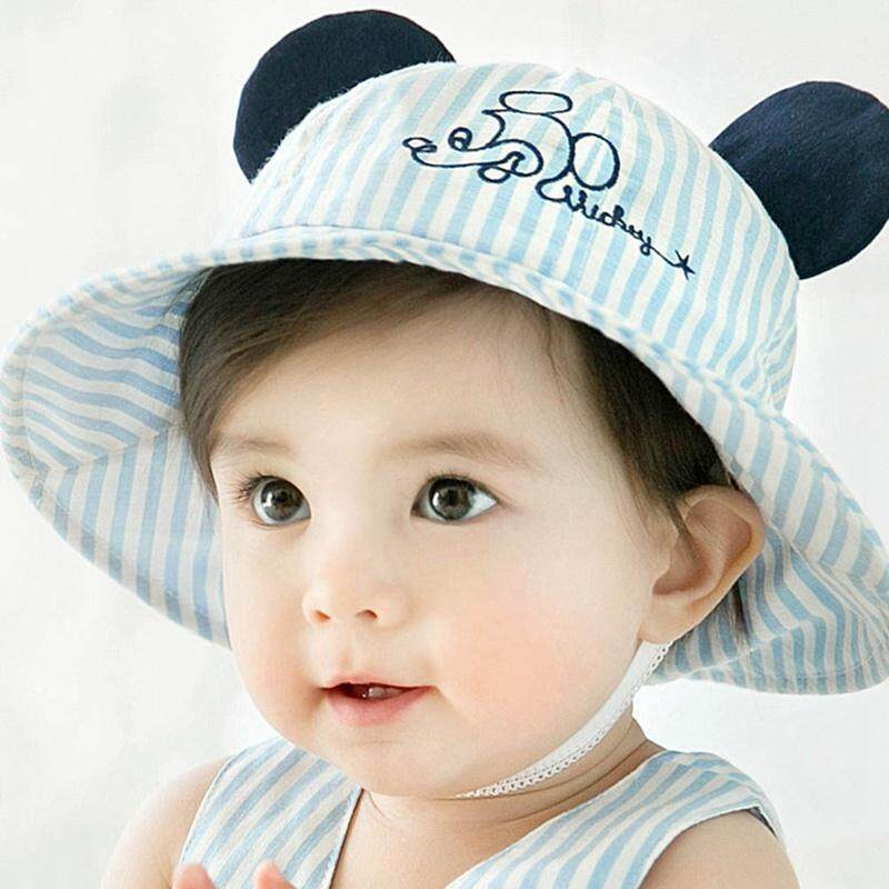5dc1597a4120 BZY Baby Cute Cotton Hats for Infant Beanie Stripe Hat Cap Infant  Breathable Visor