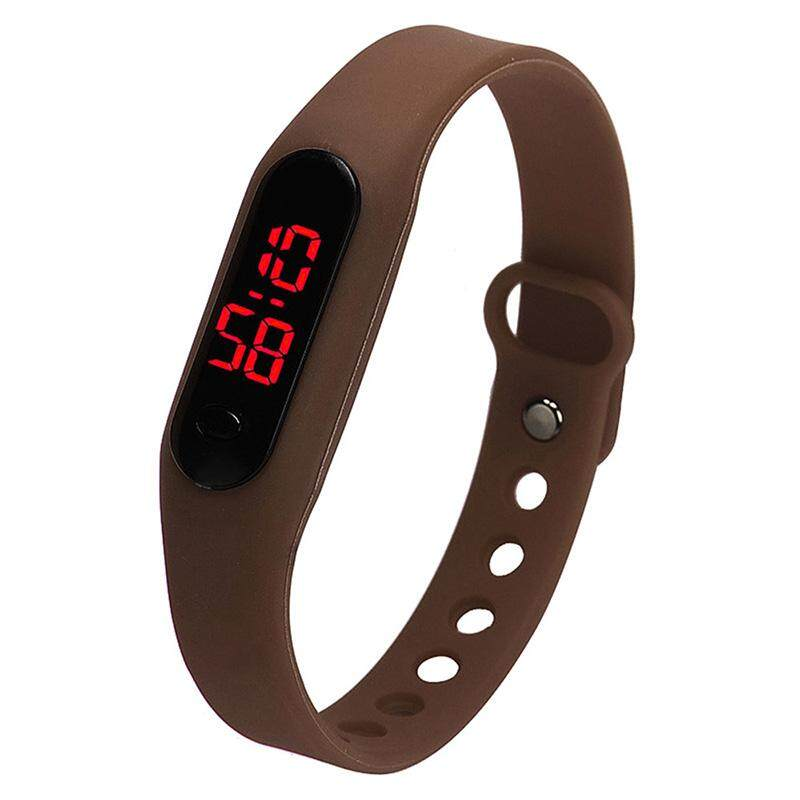 Fashion child movement Silica gel LED Watch Coffee Malaysia