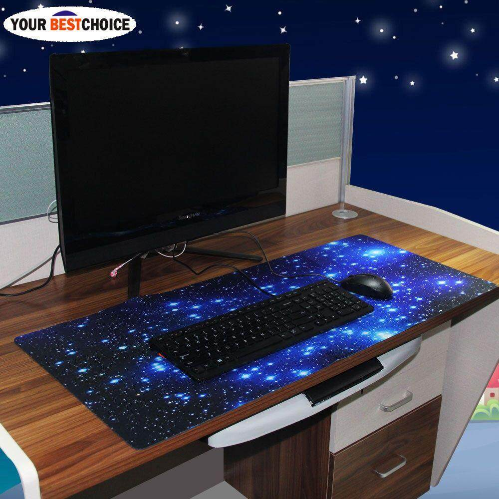 YBC Galaxy Anti-Slip Laptop Computer Gaming Large Mouse Pad Keyboard Mat (Color: Blue) Malaysia