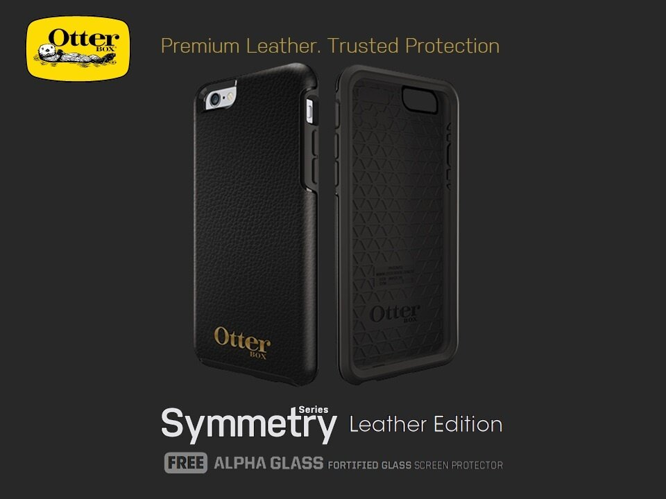 newest 2e0cc 8daa9 [Apple iPhone 6 / iPhone 6S] OtterBox Symmetry Series Leather Edition