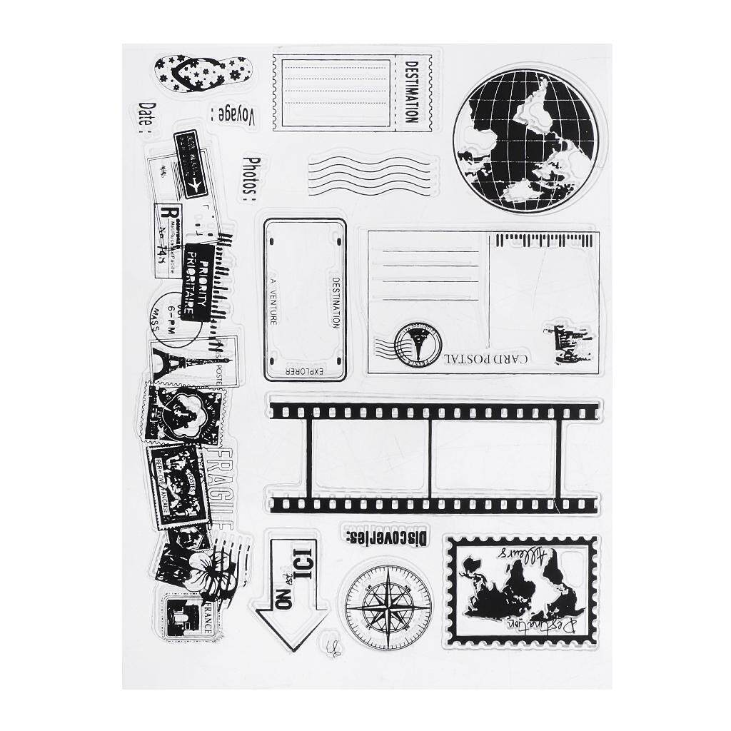 Bolehdeals Clear Silicone Rubber Stamp Sheet For Diary Scrapbooking Photo Album 14x18cm By Bolehdeals.