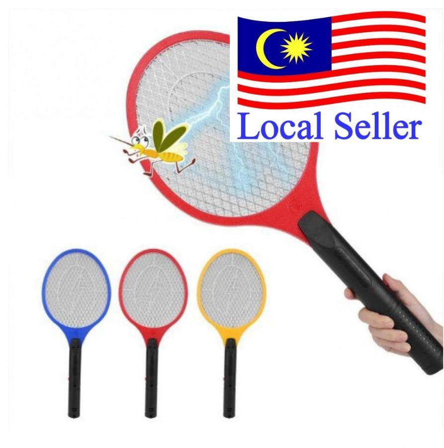 Outdoor Lighting Electric Fly Mosquito Swatter Cordless Battery Power Zapper Racket Insect Killer Mosquito Trap