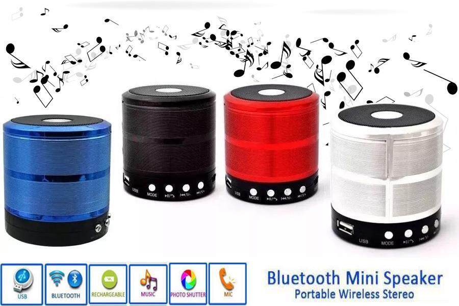 Mini Speaker Wireless Player Bluetooth USB/TF/Radio/AUX WS-887