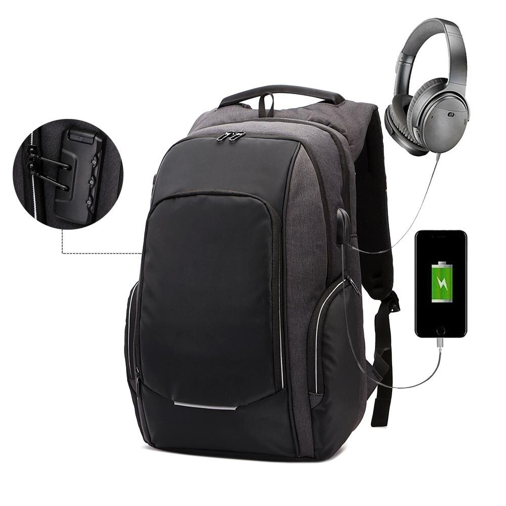 07c3ba727d87 Rodeal Anti Theft Laptop Backpack With USB Charging And Headphone Port 15.6  Inch Business Slim Notebook Bag Travel Daypack For Men Women School ...