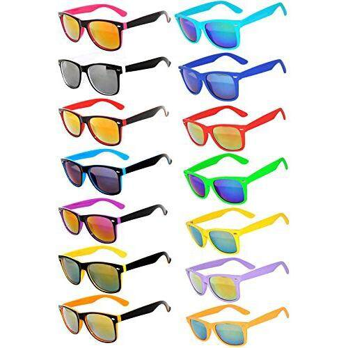 f5d16abffce Wholesale Bulk Matte Colored Mirrored and Smoke Lens Sunglasses 14 pairs OWL