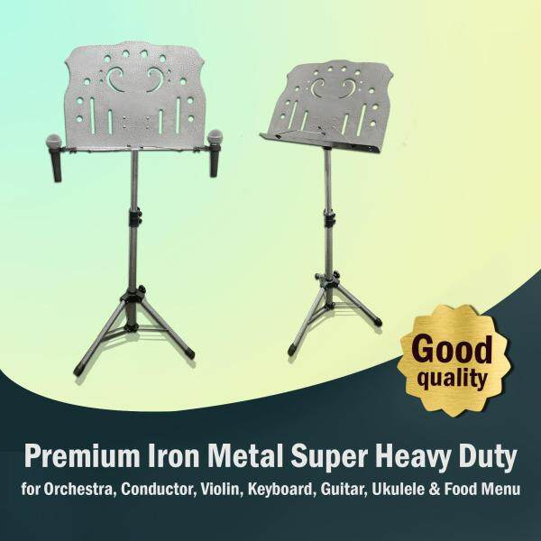 Premium Iron Metal Super Heavy Duty Music Stand for Orchestra, Choir, Violin, Guitar, Keyboard, Ukulele, Bass, Food Menu, Tablet (High Quality) Malaysia