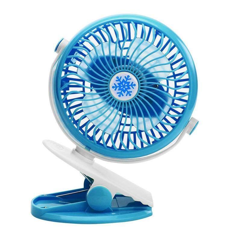 Desktop Fan, Portable Mini Fan, Personal Desk Fan, Quiet Fan, Charging Air, Cooler Stepless Speed Two-Way Rotary 360 Degrees (blue) By Happyang.