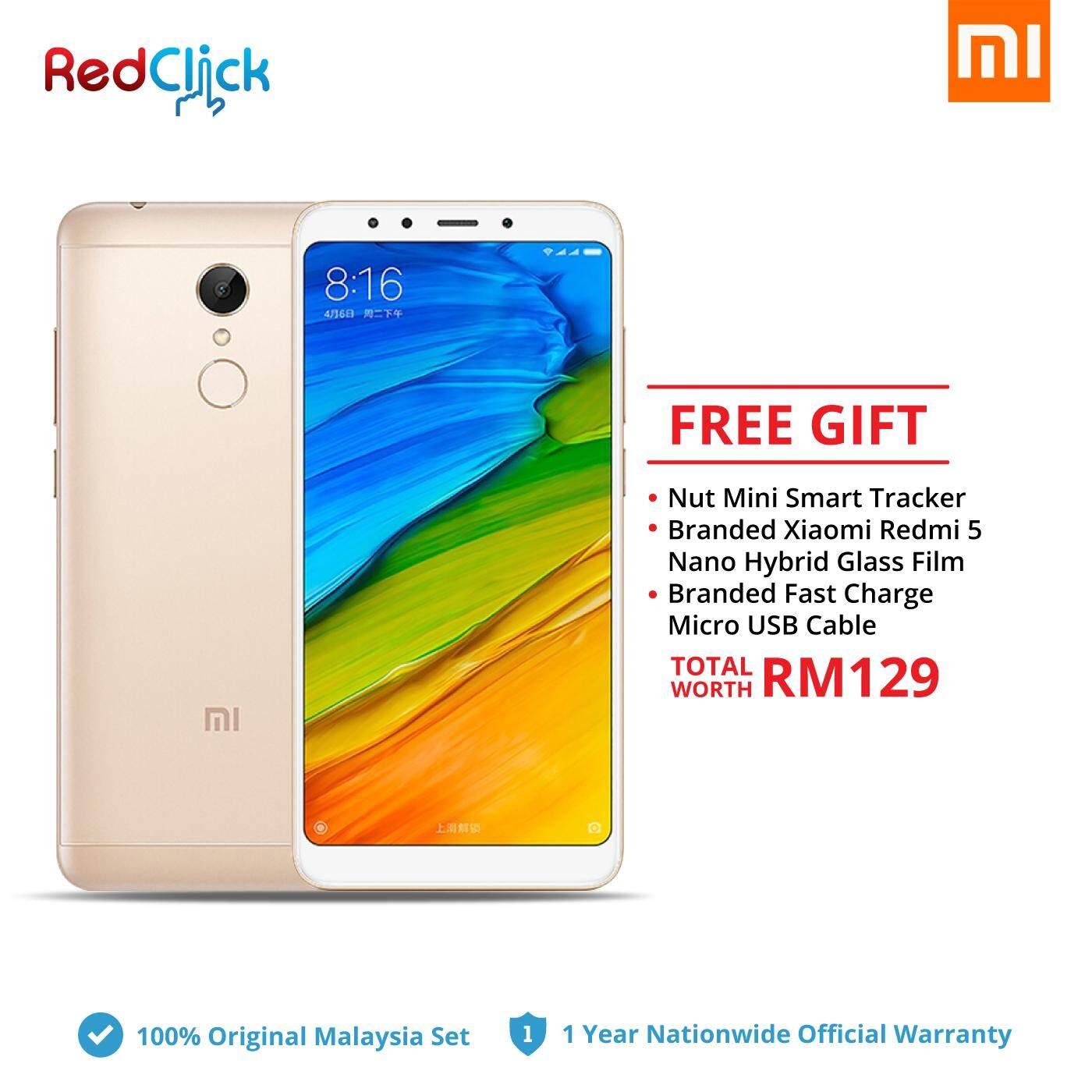 Xiaomi Redmi 5 (3GB/32GB) + 3 Free Gift Worth RM129