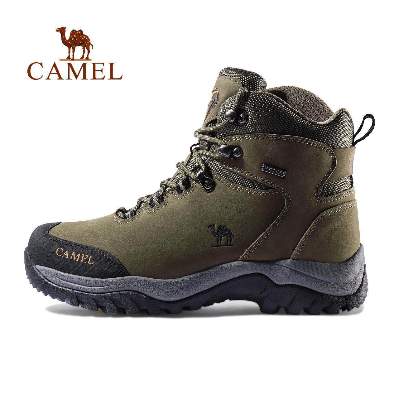a4b6e142f6c Camel men's outdoor cow leather hiking shoes breathable climbing ankle  boots lace up Non-slip climbing shoes travel camping sports shoes Mountain  ...