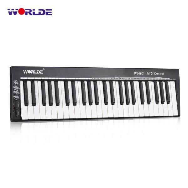 WORLDE KS49C 49-Key USB MIDI Keyboard Controller with 6.35mm Pedal Jack MIDI Out Malaysia