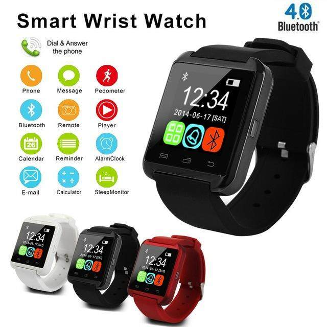 NanXiangZi Smartwatch Bluetooth Smart Watch U8 for IPhone IOS Android Smart Phone Wear Clock Wearable Device Smartwach Jam Tangan Lelaki/Man Malaysia