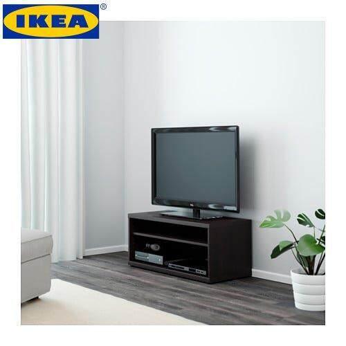Ikea MosjÖ Black Brown Tv Bench 90x40x38 Cm
