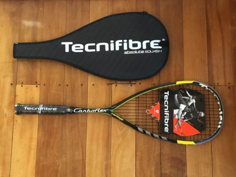 Tecnifibre Carboflex 125 Heritage Squash Racket By Olympic Sports.